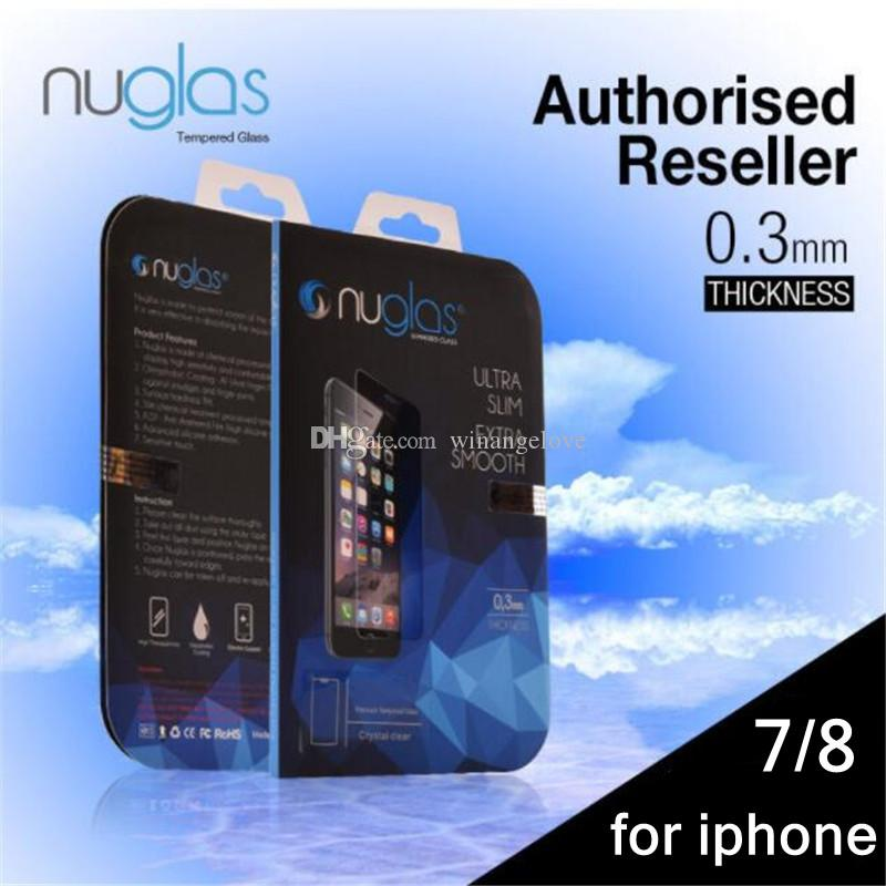 660fa2227ee Original Nuglas Tempered Glass Screen Protector Guard For IPhone 7 8 Ultra  Thin Tempered Glass For Iphone 8 Anti Glare Screen Protectors Phone Screen  ...