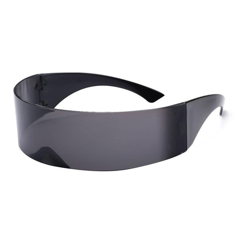 751f95af88 VBIGER Ladies Mens Black Frame Wrap Sunglasses One Piece Shades Flat Top  Novelty Costume Party Funny Trendy Sunglasses Sunglasses Eyeglasses From  Baozii