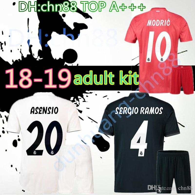 buy online 56d44 b43dd 2018 2019 men adult Real madrid Black kits soccer Jerseys 18 19 RONALDO  JAMES BALE RAMOS ISCO MODRIC football shirt Thailand Quality