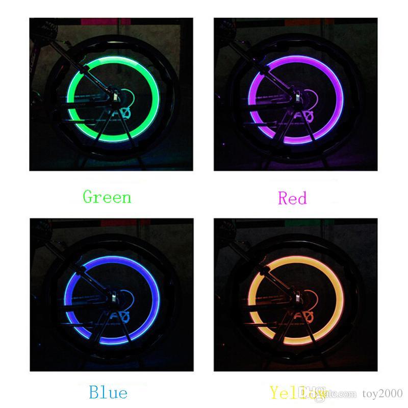 Светодиодная вспышка шины велосипед колесо клапан крышки света автомобиля велосипед Motorbicycle колесо шины свет водить автомобиль голубой зеленый красный желтый свет