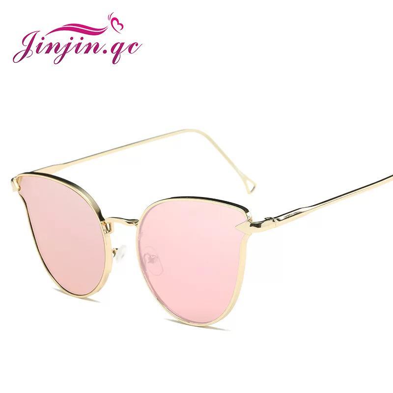 Großhandel Großhandel Spiegel Flachlinse Frauen Cat Eye Sonnenbrille ...
