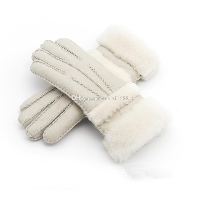 2018 новые женщины высокое качество кожаные перчатки женщины шерстяные перчатки Бесплатная доставка гарантия качества - удлиненные