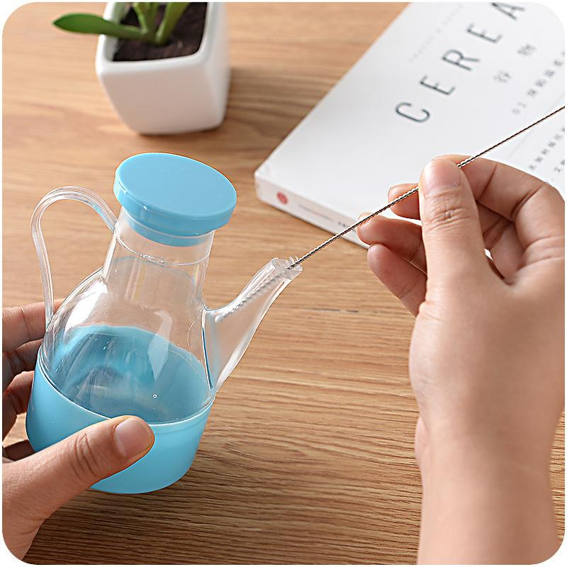 100pcs Practical Straw Cleaner Cleaning Brush Stainless Steel Wash Drinking Pipe Straw Brushes