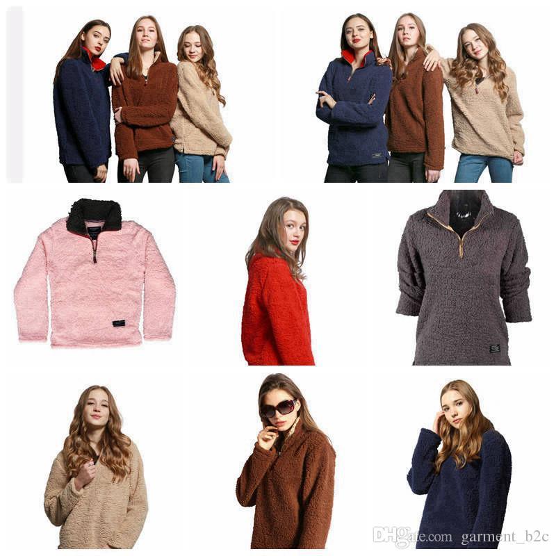 Compre De Gran Mujeres Cremallera Pullover Polar Tamaño Sherpa rXSnwrpxqA