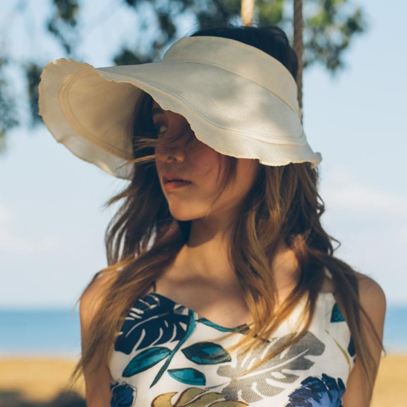 4a4ed137e8ff9 Dropshipping New Spring Summer Visors Cap Foldable Wide Large Brim Sun Hat  Beach Hats For Women Straw Hat Wholesale Chapeau Hat Shop Hat Styles From  ...