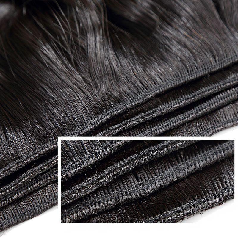 브라질 스트레이트 헤어 번들 천연 블랙 를 / 많은 처리되지 않은 저렴한 브라질 인간의 머리 번들 최고 품질 7A 버진 헤어 거래