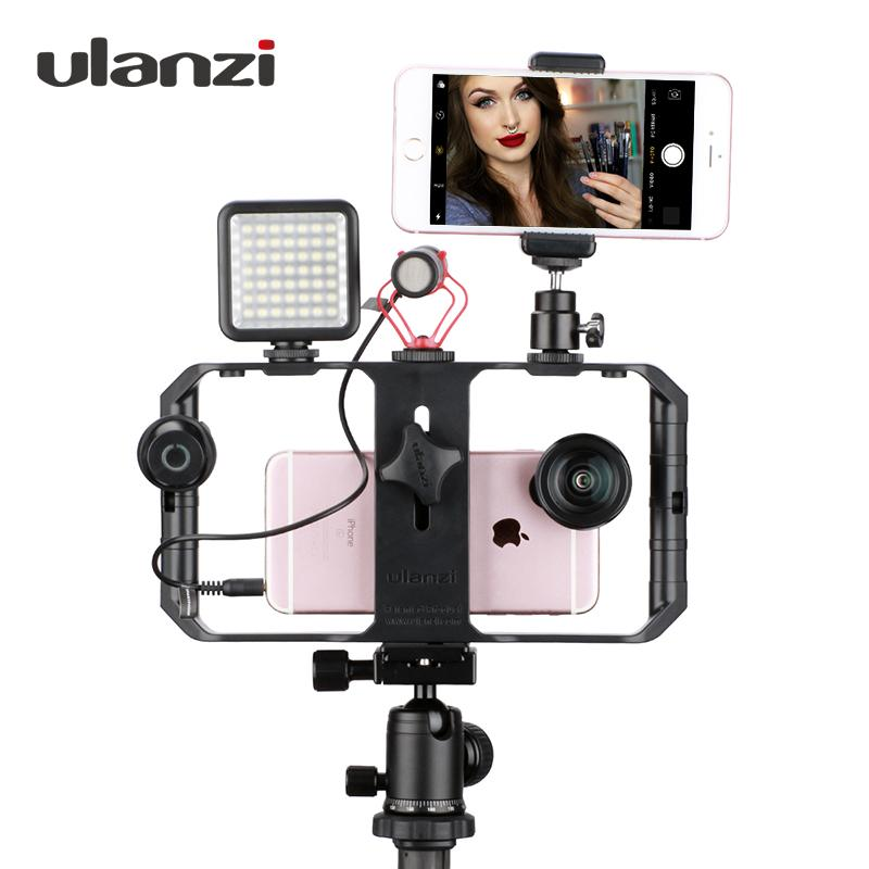 2019 Wholesale Smartphone Video Rig Youtube Facebook Live Stream Stabilizer  W Microphone Led Light Bluetooth Remote Control For IPhone 8 From  Shuokai004 038f2ec8f