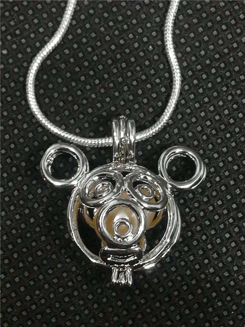 Gabbie del medaglione della stella 18KGP, possono tenere il pendente della gabbia della perla della gemma della perla, montaggio di fabbricazione di gioielli di modo di DIY P32