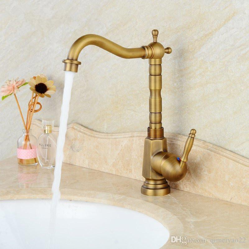 Online Cheap Bathroom Basin Faucet Antique Bronze Finish Brass Sink ...