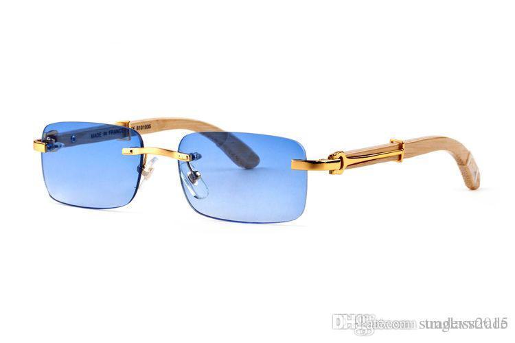 Compre es Venta Caliente Gafas De Sol Sin Montura Natural Cuernos De ...