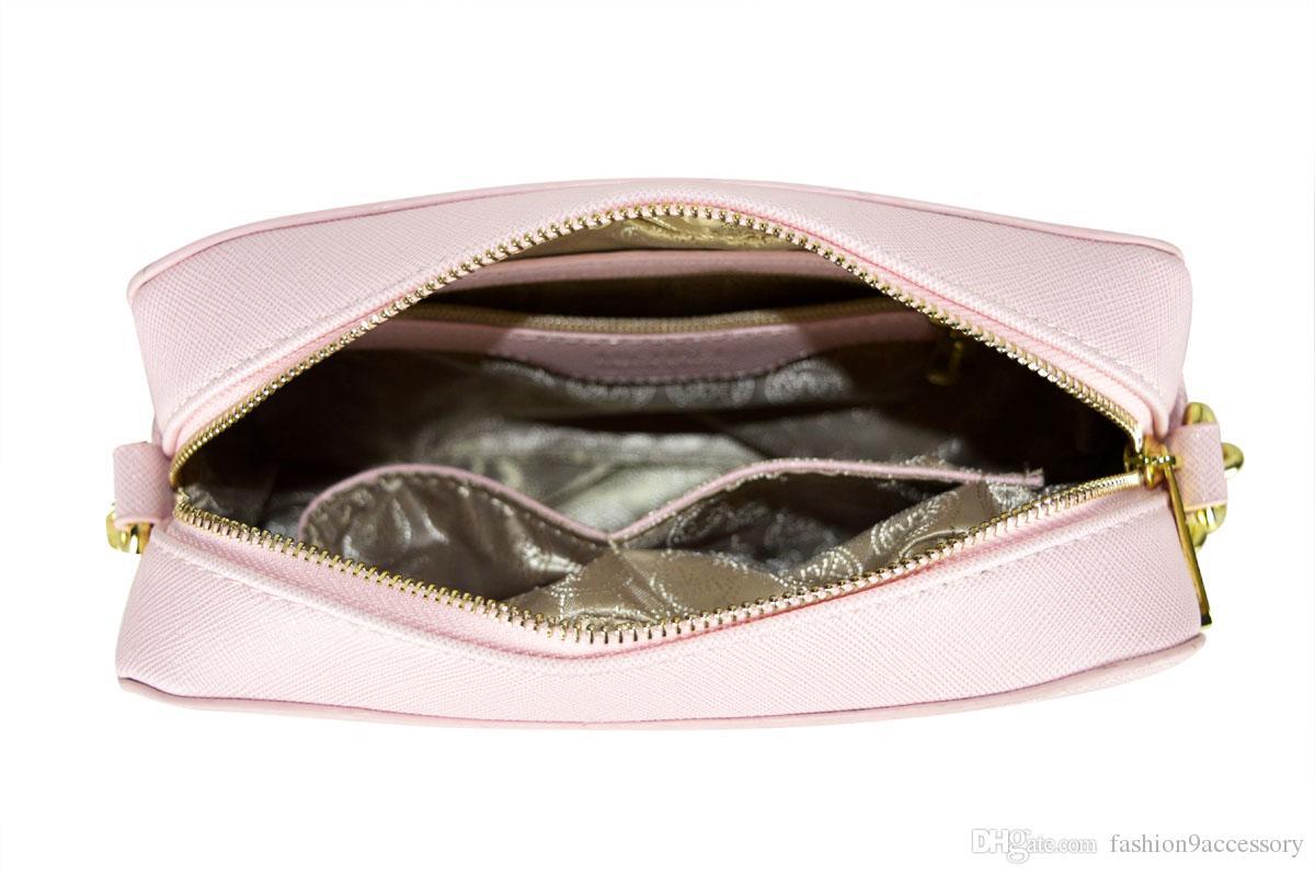 Classique Marque Designer Sac À Bandoulière Multicolore En Cuir Véritable Corssbody Sac Chaîne Zipper Messenge Femmes Mode Accessoires