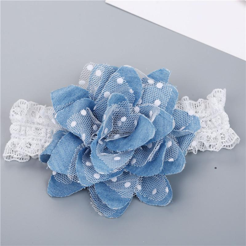 356b04138f5 Dot Denim Flower Headband Newborn Baby Girls Flower Lace Hair Bands  Headwear Photography Props Child Kids Hair Accessories Gold Hair  Accessories Hair ...