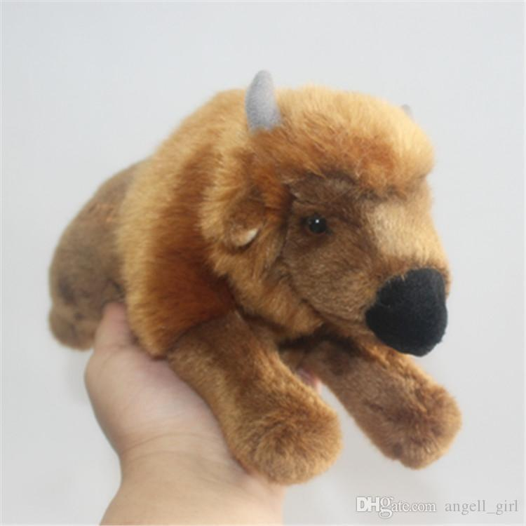 2019 Realistic Amimal Buffalo Plush Doll Cute Mini Animals Yak Toys