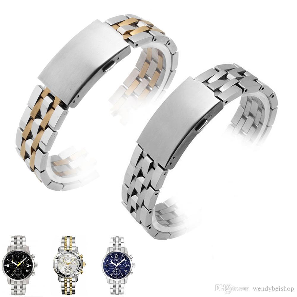 19mm Qualité Acier Inoxydable Courbe Bracelets 316l Montre De Bande Chaude Creux Haute Vente Fin En Solide Bracelet Carlywet Pour Argent ucTFJl3K15