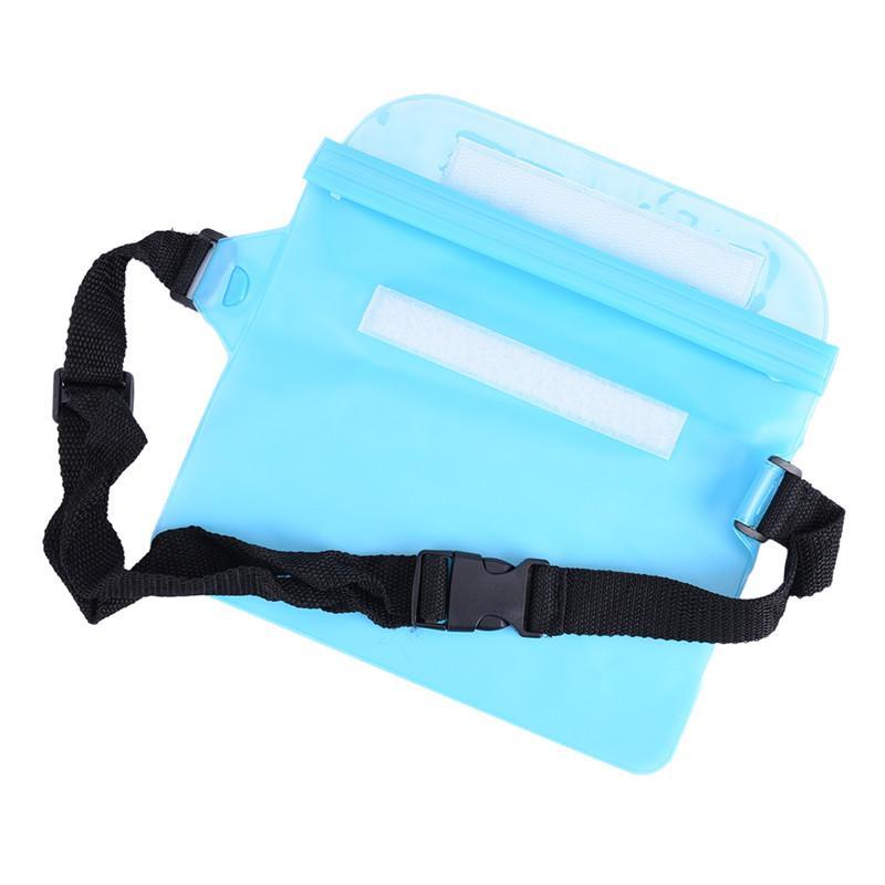 Verão Universal PVC À Prova D 'Água Saco Da Cintura Bolsa Caso Underwater Seco Bolso Capa Para O Dinheiro Do Telefone Pacote de Cintura Praia Grande Capacidade