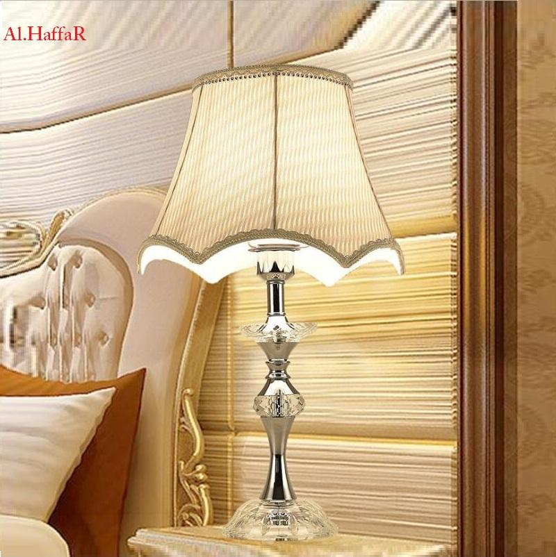 Acquista Lampade Da Tavolo Moderne In Cristallo Chrome Luxury ...