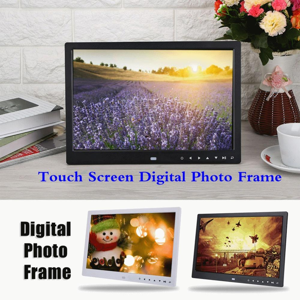 2019 15 Hd Tft Led Touch Screen Digital Photo Frame Alarm Clock