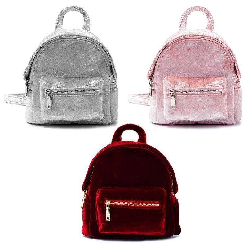b3e9229029d7 NoEnName Null High Quality Backpack Women Girls Velvet Mini Backpack Cute  School Backpacks For Girls Small Bookbags Backpack Purse From Viceokae