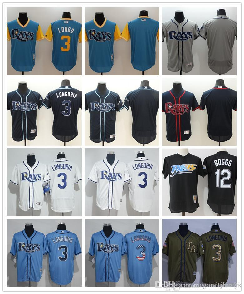 2d1fba84 custom Men women youth Tampa Bay Rays Jersey Personalized #00 Any Your name  and number 3 Evan Longoria 12 Wade Boggs Blue Baseball Jerseys