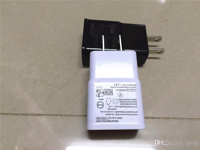 USB 벽 충전기 5V 1A AC 여행 홈 충전기 어댑터 미국 EU 플러그 삼성 갤럭시 S3 S4 S5 I9600 참고 3 N9000 DHL 무료