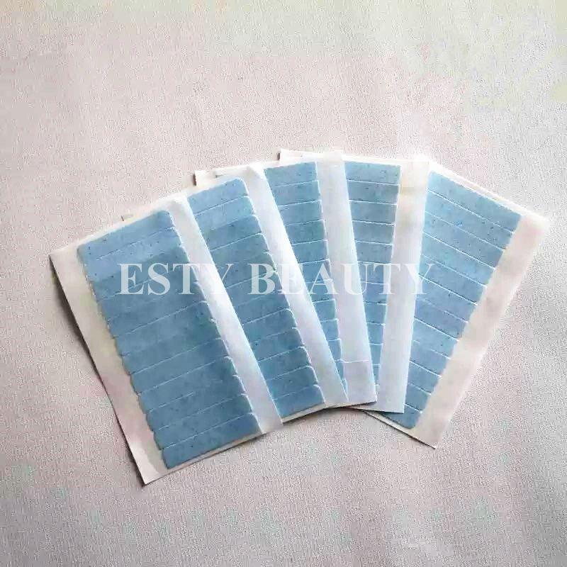 Adhesives Super qulity Klebeband blaue Farbe Klebstoff für Haut Haareinschlag Pu Haareinschlagzeit 3 Monate Haar Doppelseitenband