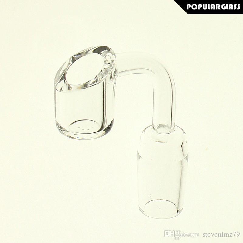 SAML 4mm Thick Quartz Banger Quartz Nail Male Joint Size 14mm and 18mm 90 degrees PG5068