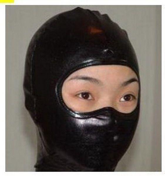 Nova Metallic Lycra Zentai Spandex Black Costume Máscara