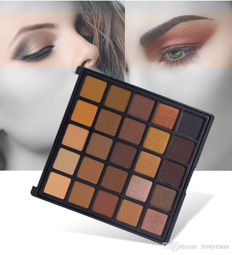 zouyesan 2019 European and American new 25-color eye shadow pearl matte combination of earth color eye shadow disk spot