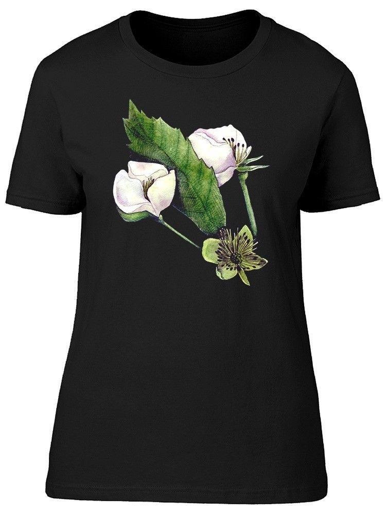 932f8c19ec747 Niedliches weißes Blumen-Skizze-Frauen T-Stück - Bild von Shutterstock  Modemarke-koreanisches Kawaii T-Shirt Femme