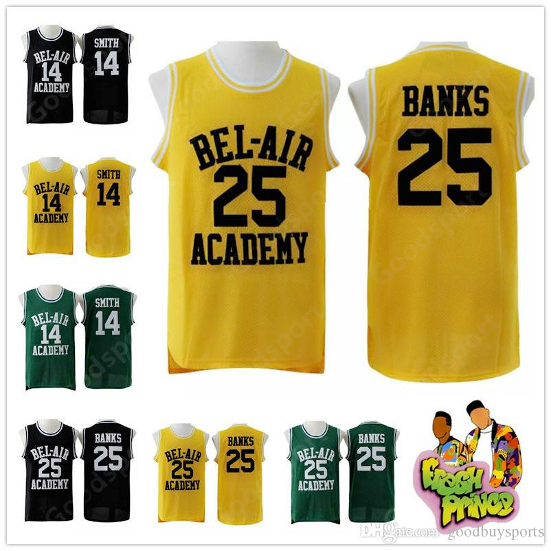 be48118d7919 2019 HOT The Fresh Prince Of Bel Air Stitched 14 Will Smith Jersey Bel Air  Academy Basketball Jersey 25 Carlton Banks Jerseys Vintage Shirts Best From  ...