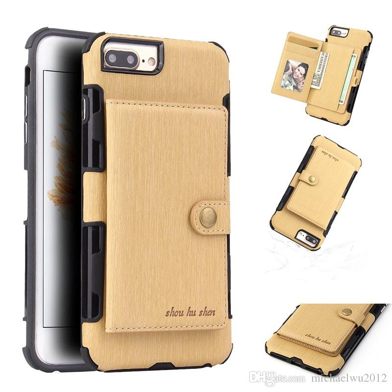 1edb12e72ce0 PU Leather Card Case For IPhone 6 6s Wallet Credit Card Slot Back Cover For  IPhone 7 8 Case 4.7 Inch Shockproof Phone Bags Personalized Cell Phone Cases  ...