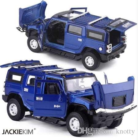 2019 1 32 Hummer H2 Suv Model Car Toy Diecast Metal With Pull Back