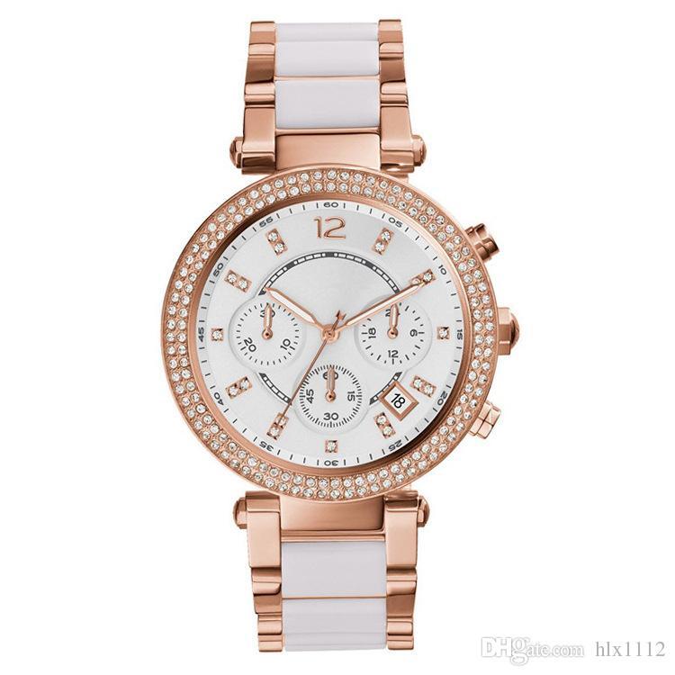 af1fe1dfc59 Brand MK Watches Luxury Watch For Girl Day Fine Steel Diamonds Waterproof  Rose Gold Quartz Watch Wholesale Watches Discount Discount Designer Watches  From ...