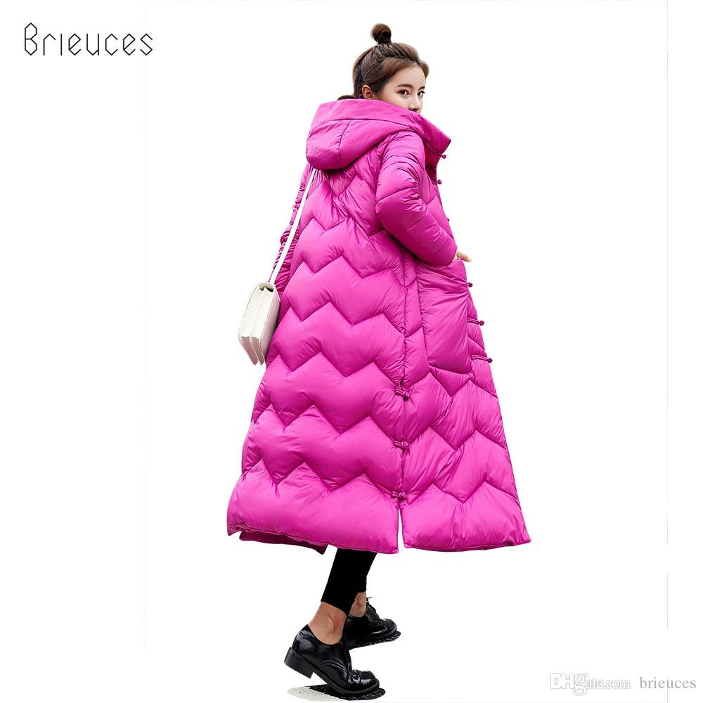 f628f57dee71 2019 Brieuces 2018 New Winter Jacket Women Coat Warm Slim Thick X Long  Parkas Good Quality Color Ethnic Hooded For Women Coats Warm Coat From  Brieuces