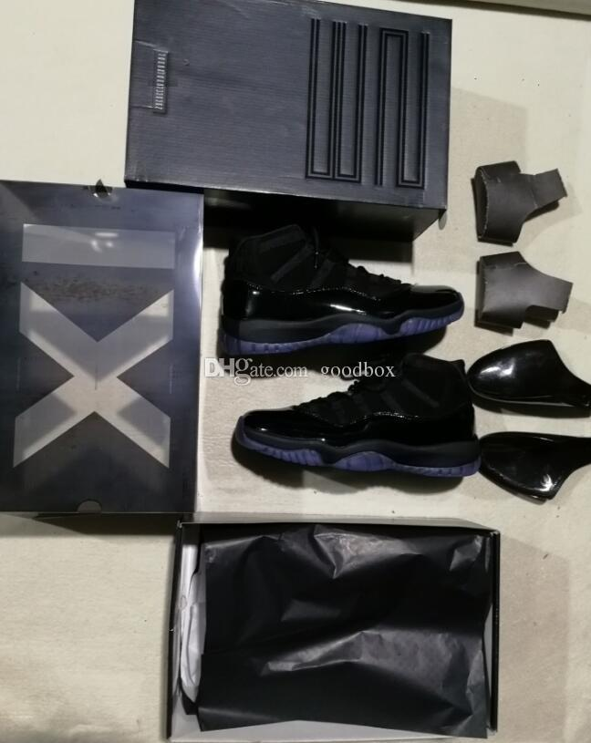 Cap and Gown Blackout 11s baile de graduación 11 Real de fibra de carbono Gym de alta calidad Rojo Gamma azul Midnight Navy de baloncesto zapatos Concord 11 con caja