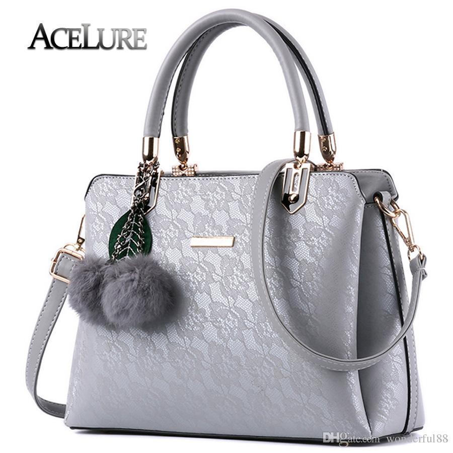 20bb5dcabc0 ACELURE Women Fur Handbags 2018 High Quality Printing Women Bags Women PU  Leather Shoulder Messenger Bags Sweet Tote Bag Bolsa Duffel Bags Ladies  Purse From ...