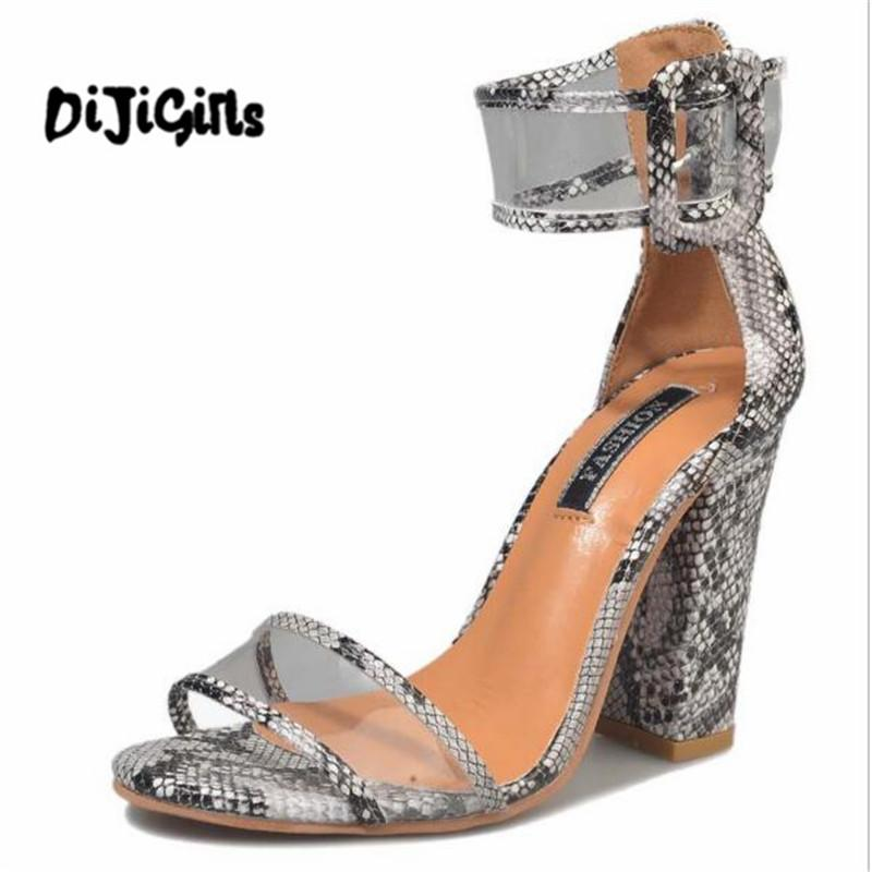 3002fb007a8b Women Sandals Platform Gladiator High Heels Clear Buckle Strap Spring Summer  Sexy Shoes Woman Fashion Black Sandalias Mujer Jesus Sandals Black Wedges  From ...