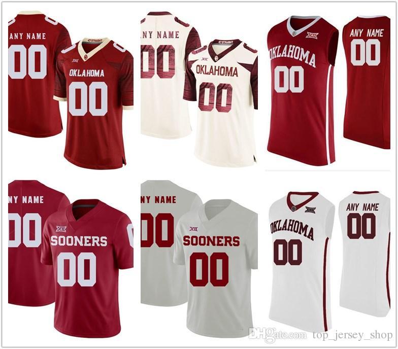 2019 2019 Men Custom Made Oklahoma Sooners College Football Jerseys