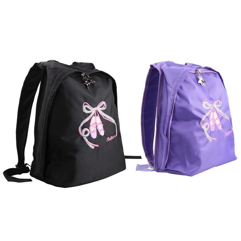 Kids Girls Sports Bags Ballet Dance School Gym Backpack Toe Shoes ... 280adbe715e4a