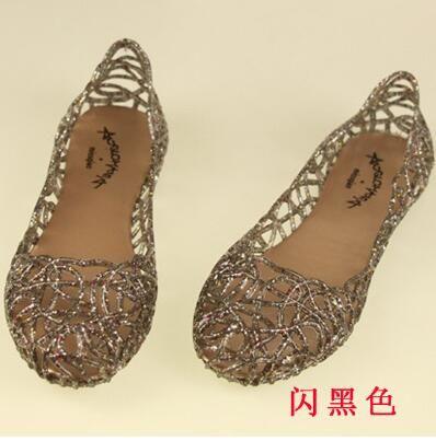 Sandali da donna Fashion Lady Girl Sandali Estate Donna Casual Jelly Shoes Sandals Hollow Out Mesh Flats 23-25cm