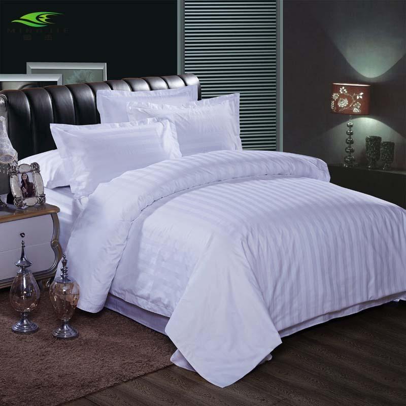 acheter e blanc taie d'oreiller hôtel 40s haute qualité 100% satin