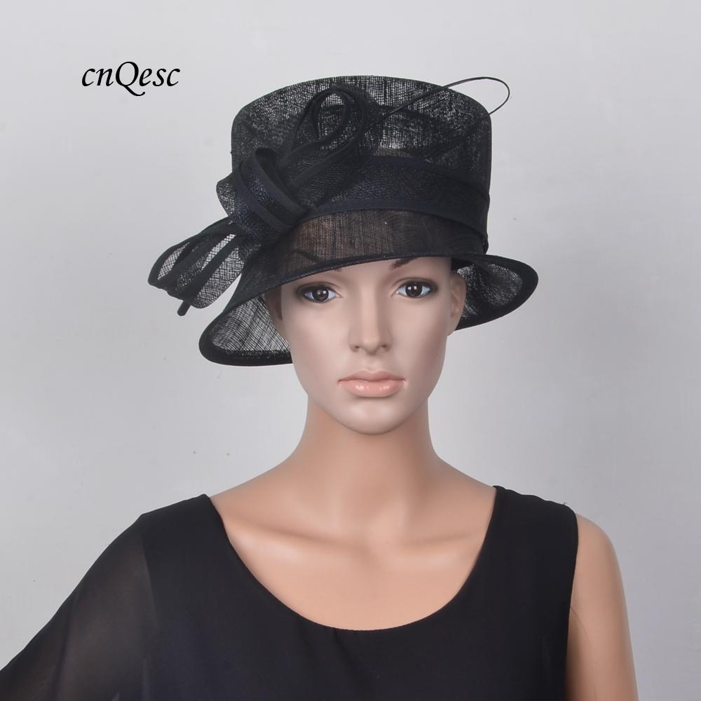 24a9eaf15a6 NEW Small BLACK Sinamay Hat Fedora Wedding Races Hat With Ostrich Spine For  Kentucky Derby,Party,Ascot Ivory Hats Ladies Wedding Hats Uk From  Qescgroup, ...