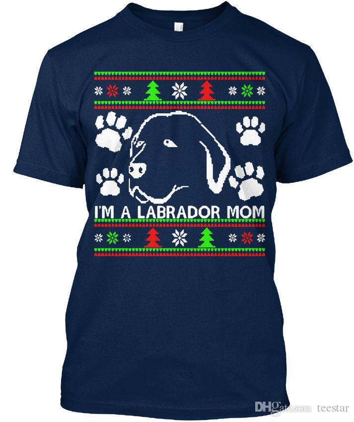 9025aa4aef1 Labrador Mom Ugly Christmas Sweater T Shirt Élégant T Shirt Men S Geek  Short Sleeve Cotton Custom Plus Size Couple T Shirts Buy Shirt Designs Funny  Clever T ...