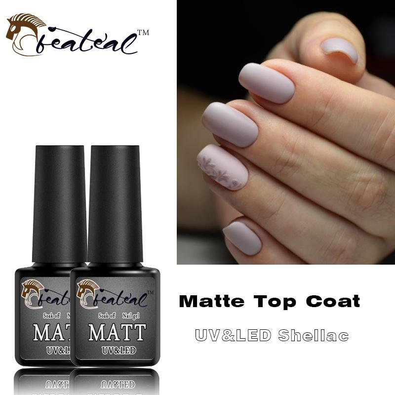 Matte Top Coat Gel Nail Polish Design Base Coat No Sticky Layer UV LED  Lucky Soak Off Transparent Color Mat Nail Gel Rubber Top