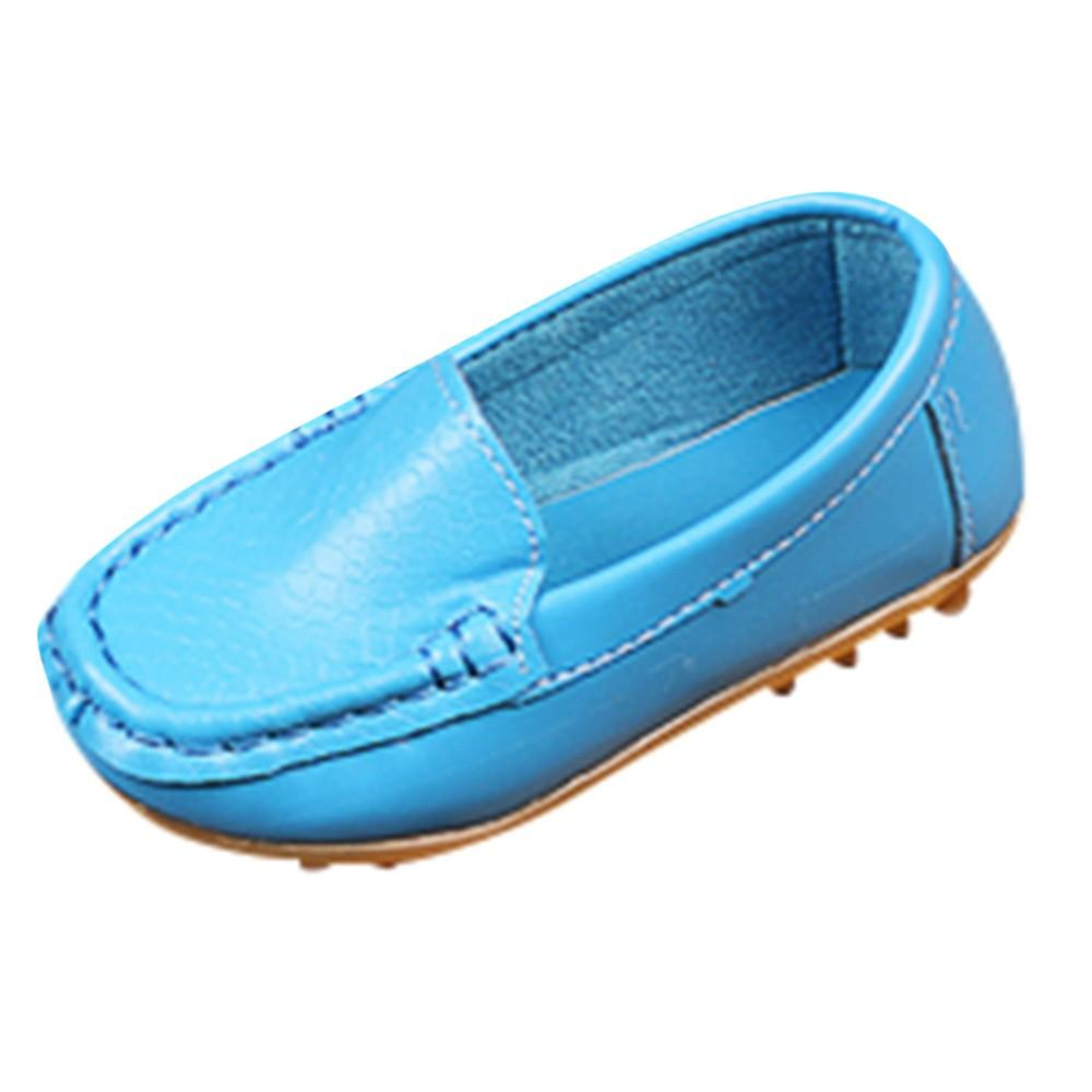ea5500d4d38 Baby Girl Shoes Children Kid Boys Girls High Quality Solid Leather Sport  Lazy Sneaker Casual Boat Shoes Drop Shipping Kids White Sports Shoes  Running ...