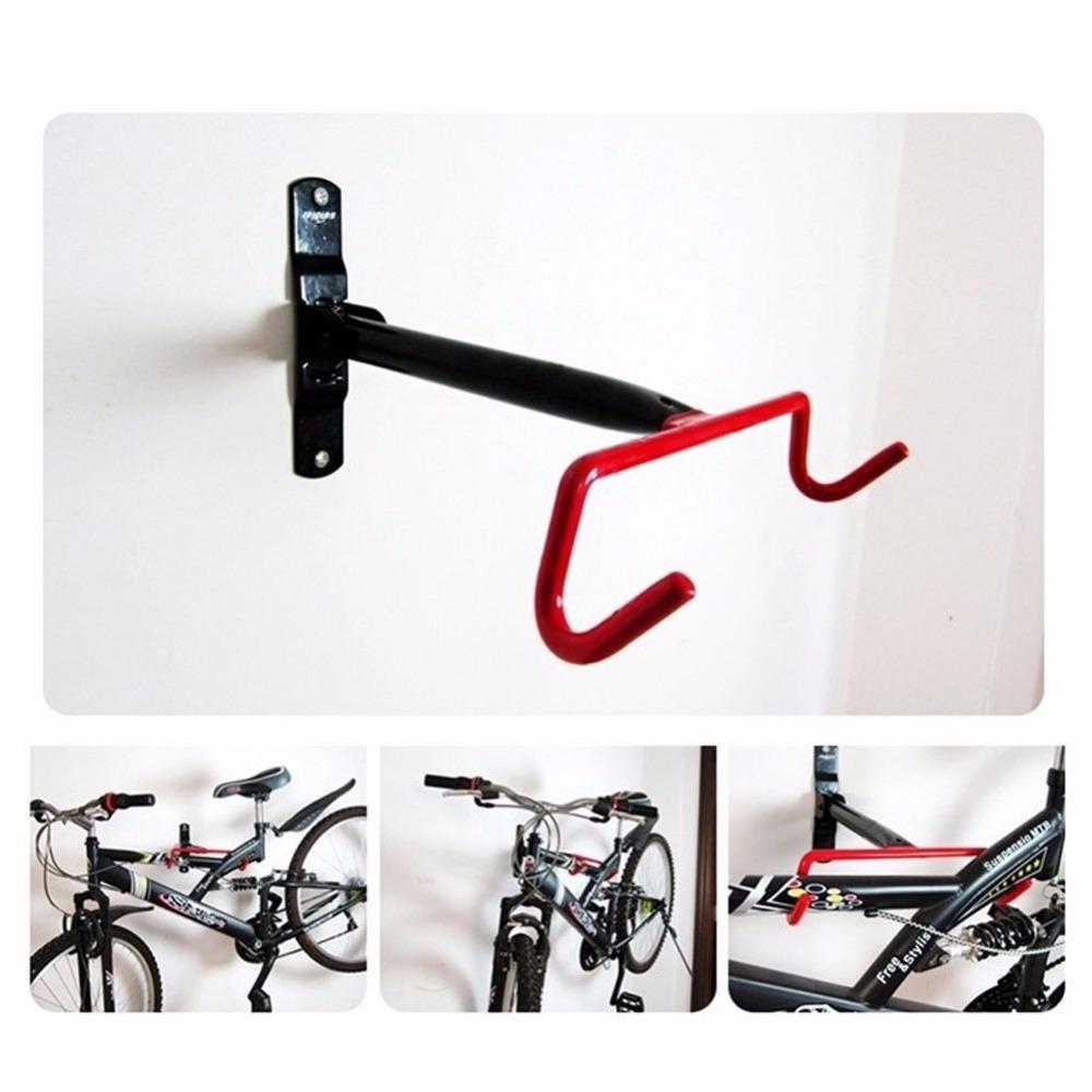 7d2a9a88a Compre Suporte Da Parede Da Bicicleta De Bicicleta De Ferro Suporte De Parede  Racks De Carga Gancho De Aço Dobre Para Baixo Estacionamento Racks De ...