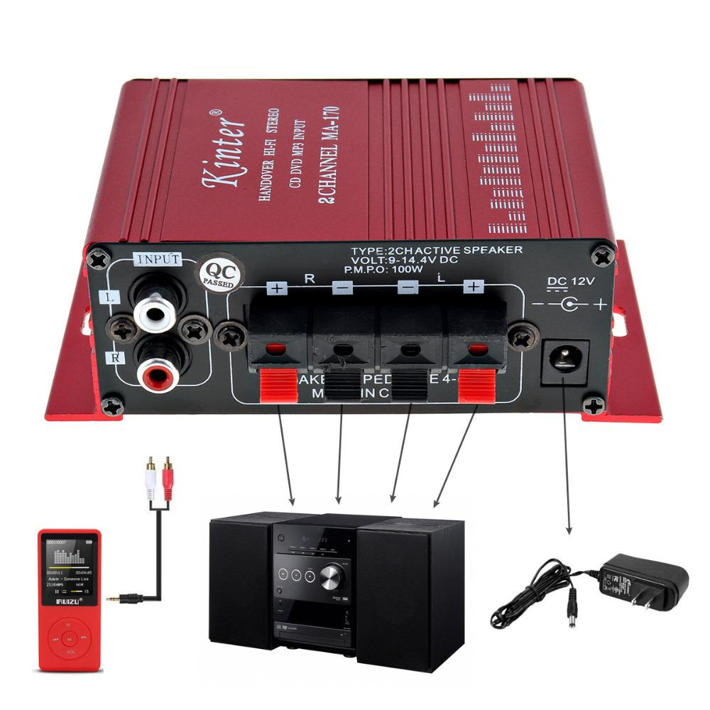 Car Power Kinter Mini 2CH HiFi Stereo Car Power Booster Audio Amplifier AMP  Support DVD CD MP3 Input For Auto Cheap Car Amplifiers Sale Cheap Car Amps  From ...
