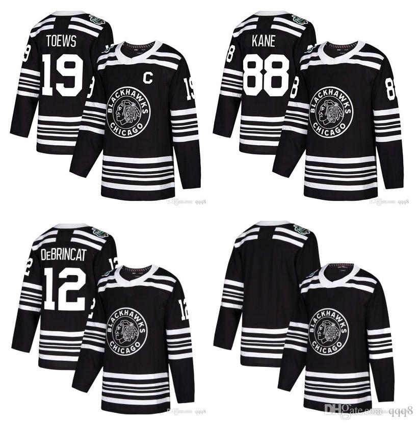 b0c8529f5 2019 2019 Winter Classic NHL Chicago Blackhawks Jersey 88 Patrick Kane 19  Jonathan Toews 2 Duncan Keith 12 Alex DeBrincat Black Stitched Hockey From  Qqq8