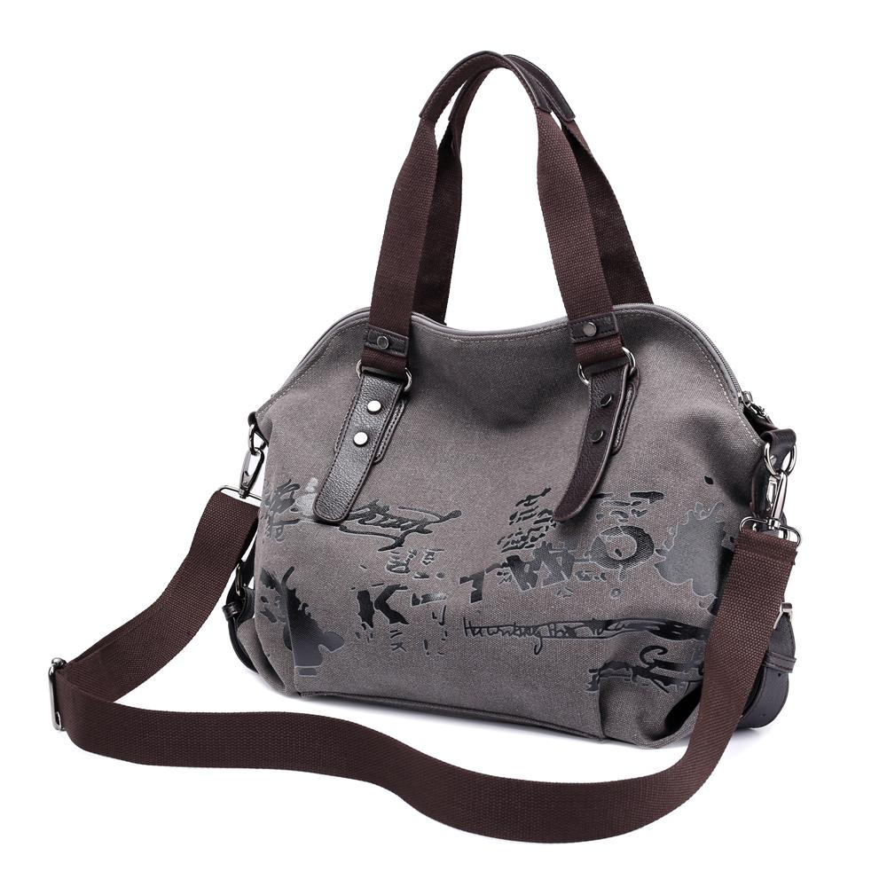 a2a46fc005f8 Large Women's Canvas Handbags Female Hobos Single Shoulder Bags Woman  Crossbody Pack Vintage Solid Ladies Totes Bolsas