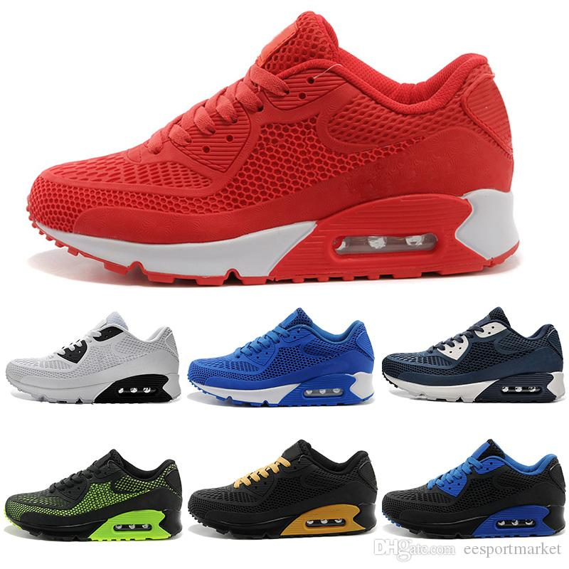 first rate eb684 079a8 Acquista 2017 Nike Air Max Airmax Alta Qualità 90 Originale Uomini Donne  Casual Scarpe Cuscino Superficie Traspirante Scarpe Sportive Scarpe Da  Tennis ...
